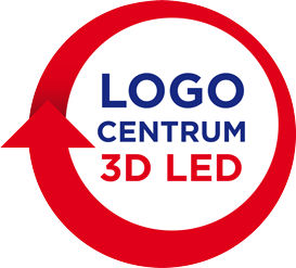 Logo Centrum 3D LED - Reklama świetlna