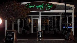 Kasetony reklamowe podświetlane LED: Café Czuć Miętą