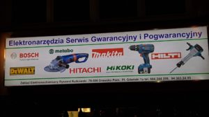 Kasetony reklamowe podświetlane LED: Elektronarzędzia