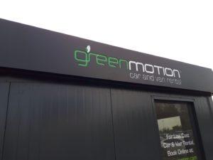 Kasetony reklamowe podświetlane LED: Green Motion