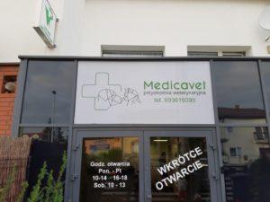 Kasetony reklamowe podświetlane LED: Medica Vet
