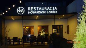 Kasetony reklamowe podświetlane LED: Restauracja Nowakowski & Skitek