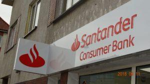 Kasetony reklamowe podświetlane LED: Santander Consumer Bank