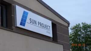 Kasetony reklamowe podświetlane LED: Sun Project