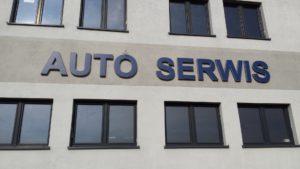 Litery i logo 3D bez podświetlenia: Auto Serwis