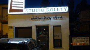 Litery i logo 3D bez podświetlenia: Studio Rolety