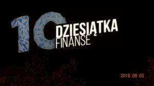 Reklama świetlna – Litery i logo 3D podświetlane LED: Dziesiątka Finanse