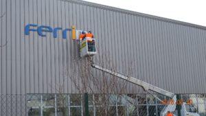 Reklama świetlna – Litery i logo 3D podświetlane LED: Ferrima