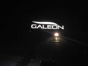 Reklama świetlna – Litery i logo 3D podświetlane LED: Galeon