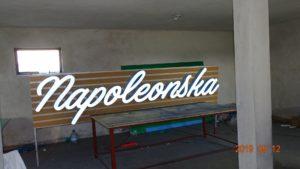 Reklama świetlna – Litery i logo 3D podświetlane LED: Napoleonska