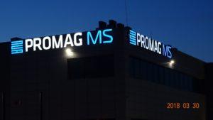 Reklama świetlna – Litery i logo 3D podświetlane LED: Promag MS