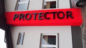 Reklama świetlna – Litery i logo 3D podświetlane LED: Protector