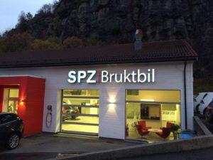 Reklama świetlna – Litery i logo 3D podświetlane LED: SPZ Bruktbil, Bergen - Norwegia