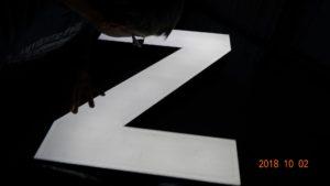 Reklama świetlna – Litery i logo 3D podświetlane LED: SPZ Meca, Bergen - Norwegia