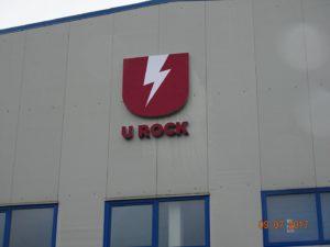 Reklama świetlna – Litery i logo 3D podświetlane LED: U Rock